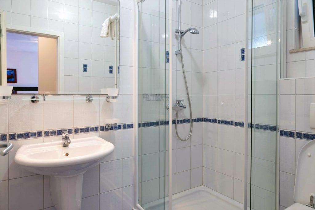 Ground floor A1 blue bathroom