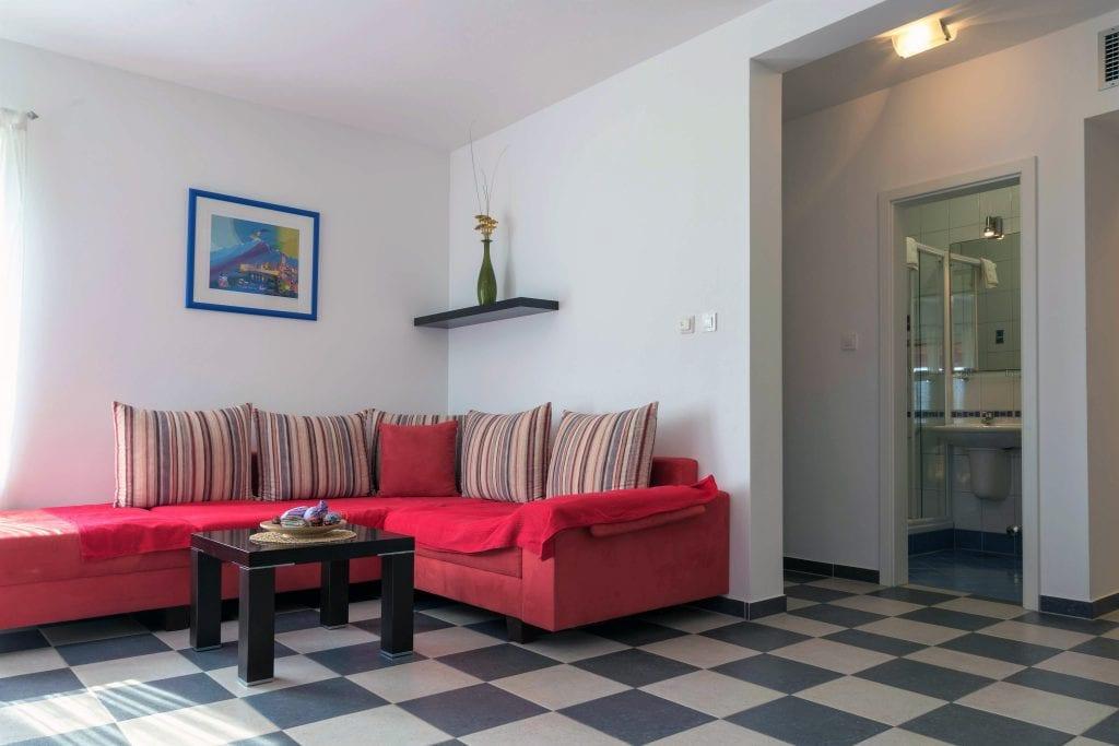 Zavala 222 A2 living room and bathroom