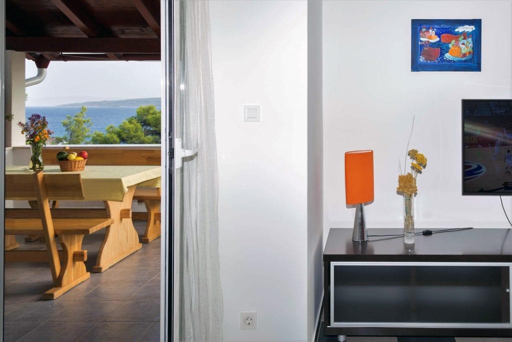 Zavala 222 A2 living room and terrace