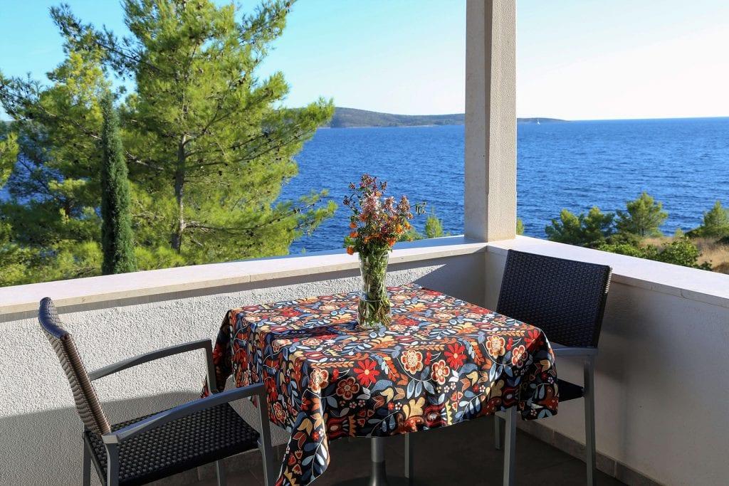 Zavala 222 B2 terrace and sea view