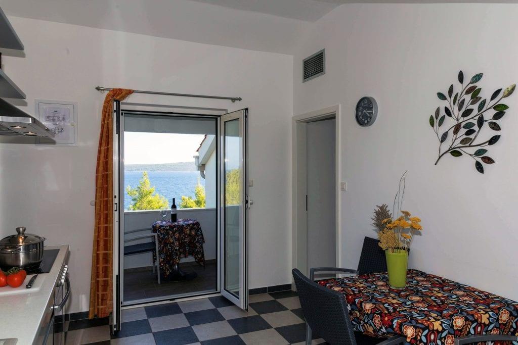 Zavala 222 C1 sea view from kitchen